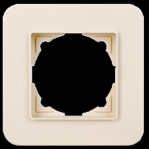 Рамка*1 кремовая Gunsan Radius (01371200-000140)